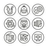 Engineering Icons Stock Photo