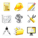 Engineering icons photo-realistic vector set Royalty Free Stock Photography