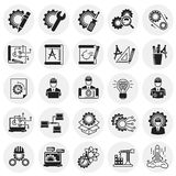 Engineering icons set on circles background for graphic and web design, Modern simple vector sign. Internet concept. Trendy symbol. For website design web vector illustration