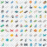 100 engineering icons set, isometric 3d style. 100 engineering icons set in isometric 3d style for any design vector illustration Royalty Free Stock Image
