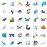 Engineering icons set, isometric style. Engineering icons set. Isometric style of 36 engineering vector icons for web isolated on white background Stock Photos