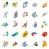 IT engineering icons set, isometric style Royalty Free Stock Photography