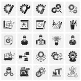 Engineering icons set on squares background for graphic and web design, Modern simple vector sign. Internet concept. Trendy symbol. For website design web stock illustration
