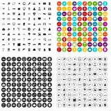 100 engineering icons set vector variant. 100 engineering icons set vector in 4 variant for any web design isolated on white Royalty Free Stock Image