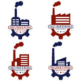 Engineering Industry Concept Logo Stock Photography