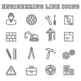 Engineering line icons Stock Images