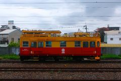 The engineering locomotive royalty free stock photo