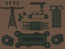 Engineering Logo Template Royalty Free Stock Photography