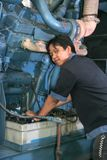 Engineering in machine room Stock Image