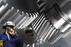 Engineering, machinery and steel Stock Images