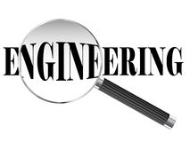 Engineering Magnifying Glass Royalty Free Stock Images
