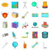 Engineering manager icons set, cartoon style. Engineering manager icons set. Cartoon set of 25 engineering manager vector icons for web isolated on white Stock Photography