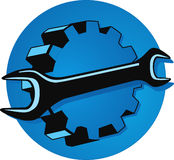 Engineering mechanics. Symbol, mechanical repair vector illustration