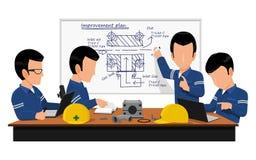 Engineering meeting royalty free illustration