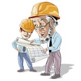 Engineering men Royalty Free Stock Image