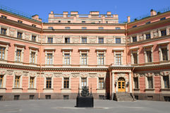 Engineering (Mikhailovsky) Castle Courtyard. In St Petersburg - palace of emperor (czar) Paul the First Stock Photos