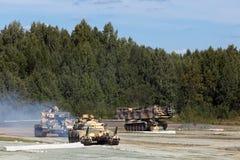 Engineering military vehicles Royalty Free Stock Photo