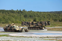 Engineering military vehicles Stock Image