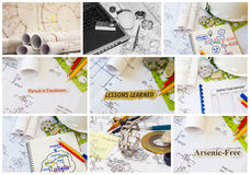 Engineering montage collection Royalty Free Stock Photos