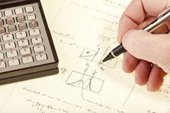 Engineering Notes Royalty Free Stock Photography