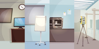 Engineering Office Vertical Banners royalty free illustration
