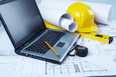 Engineering place. Horizontal image of modern engineering place Stock Image