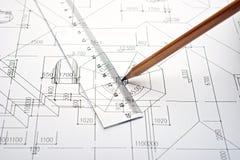 Engineering plan Royalty Free Stock Photos