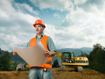 Engineering plans Royalty Free Stock Image