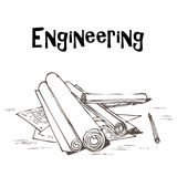 Engineering projects Stock Image