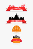 Engineering ribbon and banner set Stock Photography
