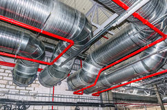 Engineering services in a building Royalty Free Stock Images