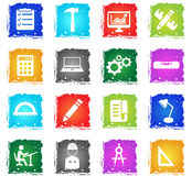 Engineering simply icons Stock Images