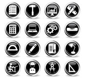 Engineering simply icons Royalty Free Stock Photos