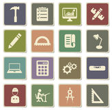 Engineering simply icons Royalty Free Stock Images