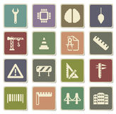 Engineering simply icons Royalty Free Stock Photo