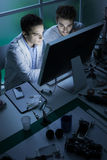 Engineering students in the lab Royalty Free Stock Photo
