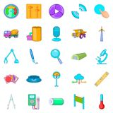 Engineering system icons set, cartoon style. Engineering system icons set. Cartoon set of 25 engineering system vector icons for web isolated on white background Royalty Free Stock Image