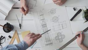 Engineering team working spaceship design