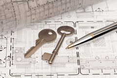 Engineering and technical drawing Royalty Free Stock Photography