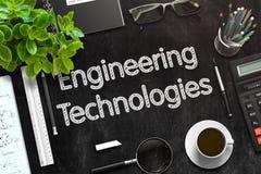 Engineering Technologies on Black Chalkboard. 3D Rendering. Stock Photography