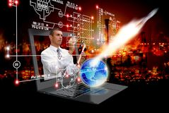 Security space research in science Royalty Free Stock Image