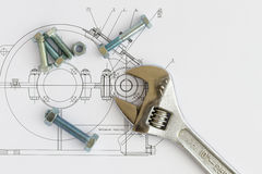 Engineering tools Royalty Free Stock Photography
