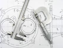 Engineering tools royalty free stock photo