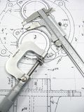 Engineering tools stock photo