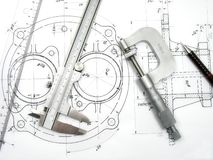 Free Engineering Tools Royalty Free Stock Photo - 5313835
