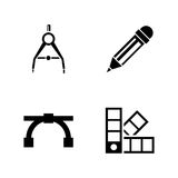 Engineering tools. Simple Related Vector Icons Stock Photography