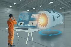 Free Engineering Use Augmented Mixed Virtual Reality Integrate Artificial Intelligence Combine Deep, Machine Learning, Digital Twin, 5G Royalty Free Stock Photography - 172102797
