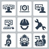 Engineering vector icons. Engineering related vector icons set royalty free illustration