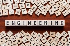Engineering word concept stock image