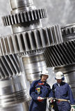 Engineering and workers Stock Photo